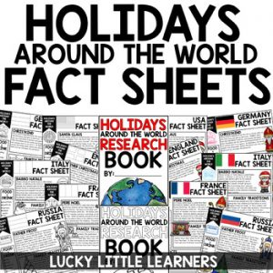 Christmas Around the World Lapbook and Research BUNDLE - Lucky ...