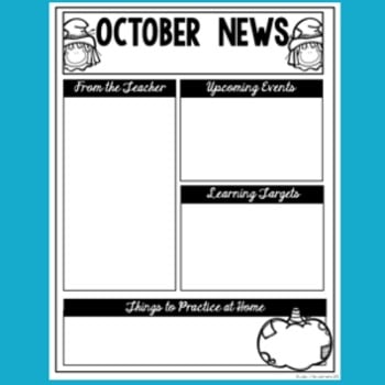 editable monthly newsletter templates lucky little learners