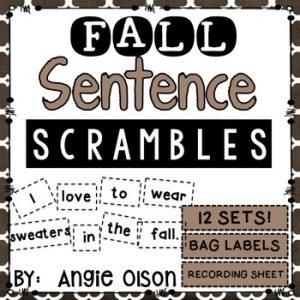 Fall Sentence Scrambles-1