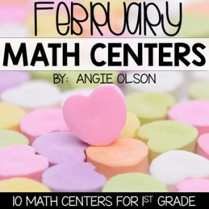 February Math Centers & Activities for 1st Grade-1