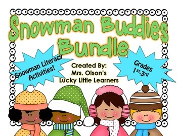 Snowman Buddies Literacy Bundle-1