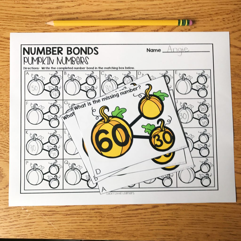 October Math Centers for 2nd Grade