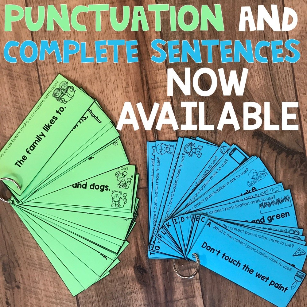 Punctuation and Complete Sentences now available in Grammar Toothy Bundle