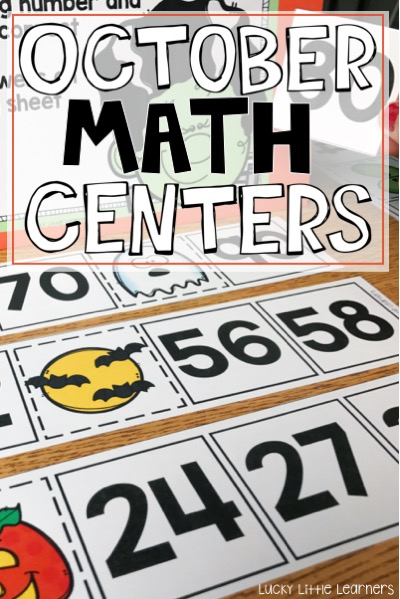 October Math Centers for 1st Grade and 2nd Grade