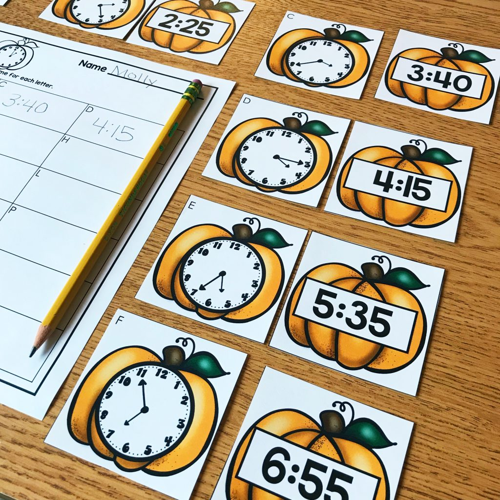 November Math Centers for 1st grade and 2nd grade