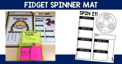 Fidget Spinner Mat