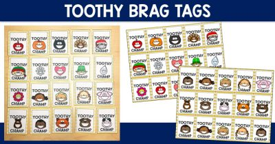 Toothy Brag Tags