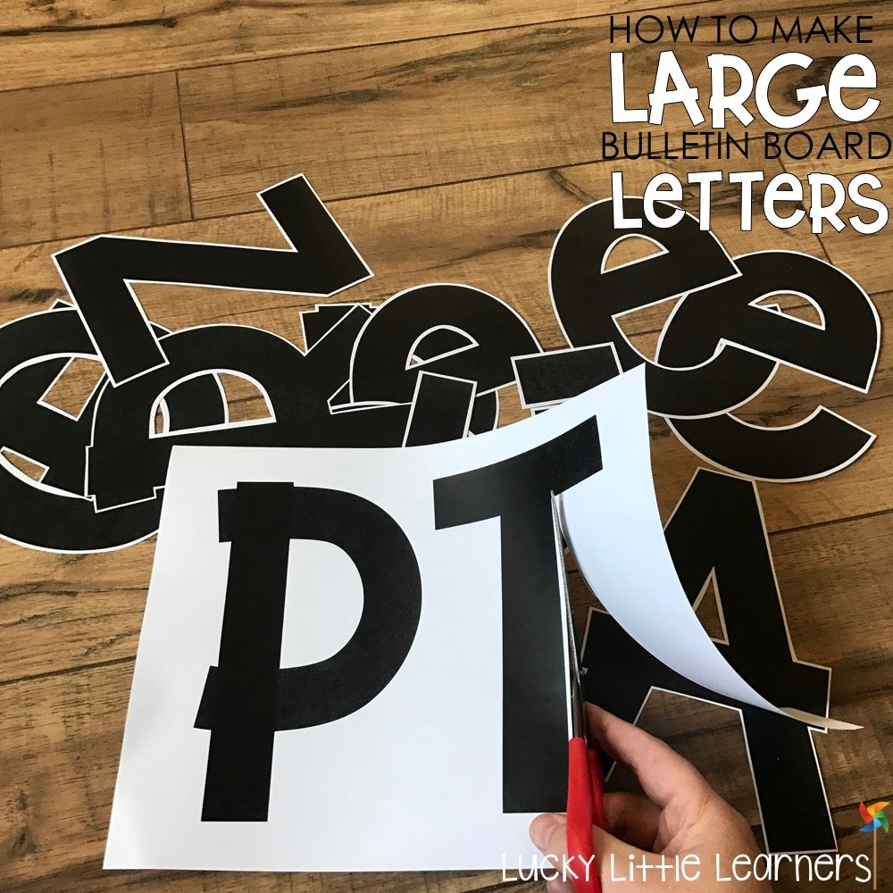 image about Printable Letters for Bulletin Boards referred to as How toward Create Higher Bulletin Board Letters - Privileged Tiny Students