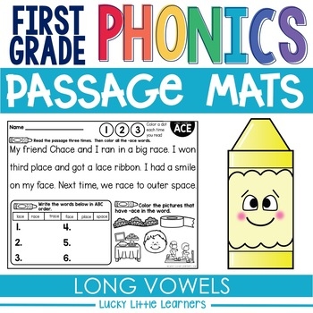 1st Grade Phonics Reading Passages | Phonics Mats Bundle | Phonics ...