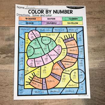 Winter 2-Digit Addition and Subtraction Color by Number No Prep Printables-1