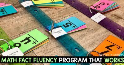 Math Fact Fluency Sticks