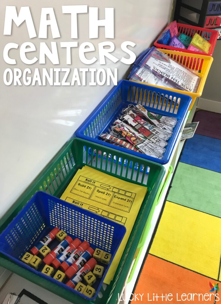 When prepping for math centers tubs, bins, and baskets are your friend! Take a look at how this 2nd grade teacher gets her math center materials ready to go for her students.