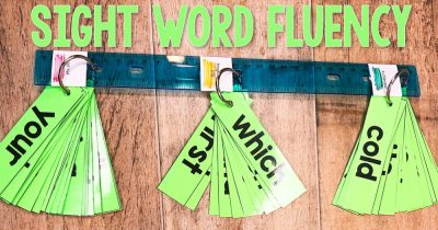 Sight Word Fluency Sticks