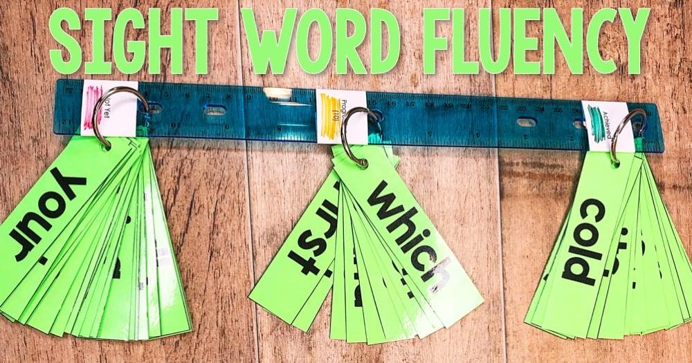 Sight Word Fluency Sticks