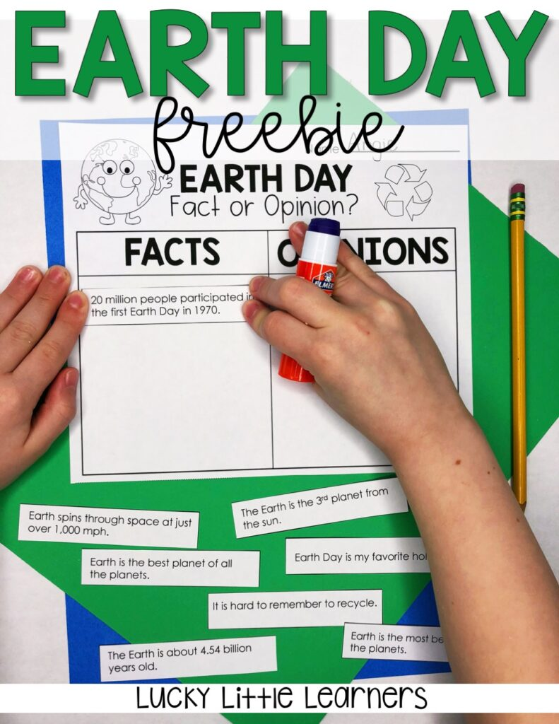 Grab this free Earth Day fact and opinion worksheet to help your students learn more about our planet and the Earth Day holiday. This Earth Day free worksheet is perfect for a quick independent activity in your classroom.