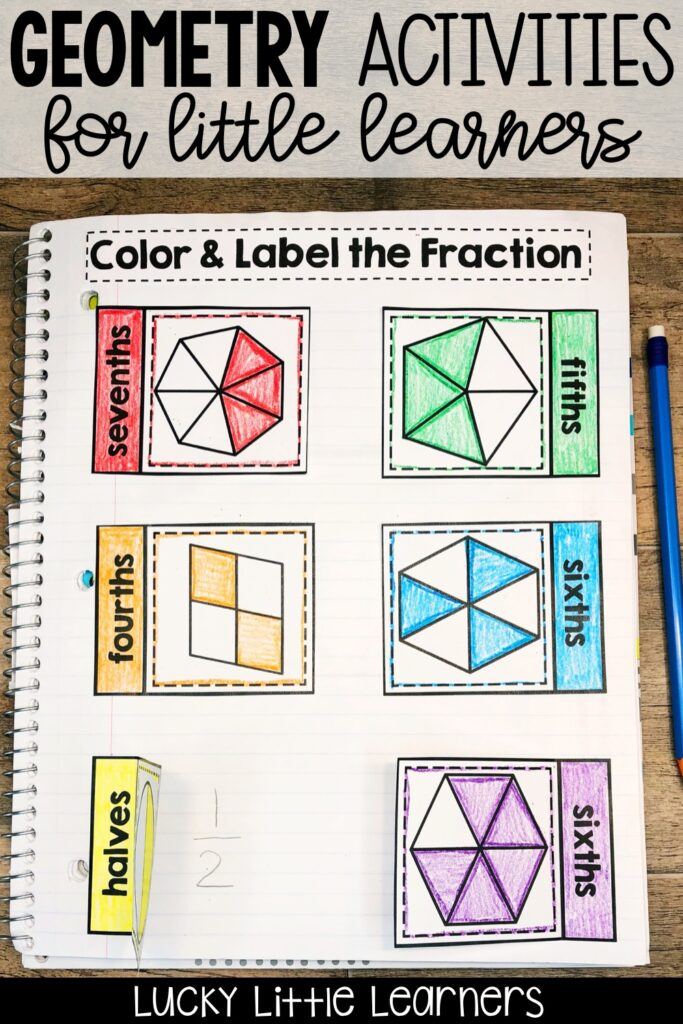 Teaching geometry and fractions can be fun! Tons of ideas for geometry activities, geometry anchor charts, geometry games, and geometry freebies! Teach 2.G.A.1 , 2.G.A.2 and 2.G.A.3 with fun and hands-on activities. Resources and ideas for both 1st grade and 2nd grade classrooms! #mathnotebooks #2ndgrade #mathcenters