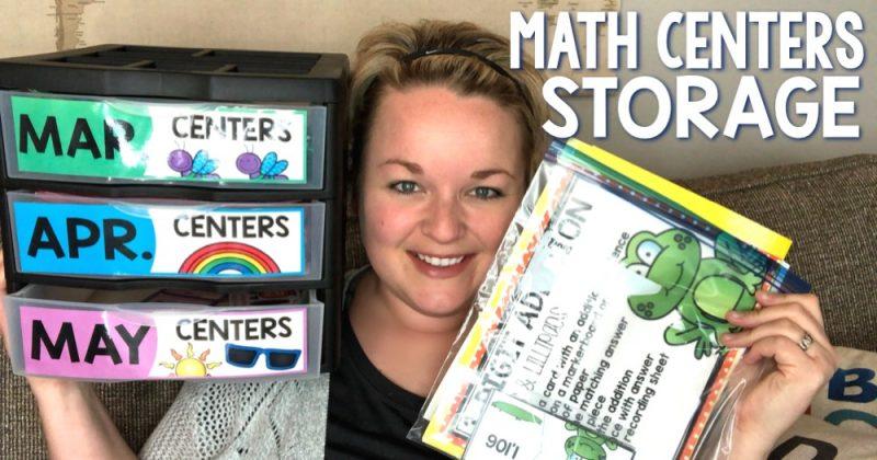 Math Centers Storage