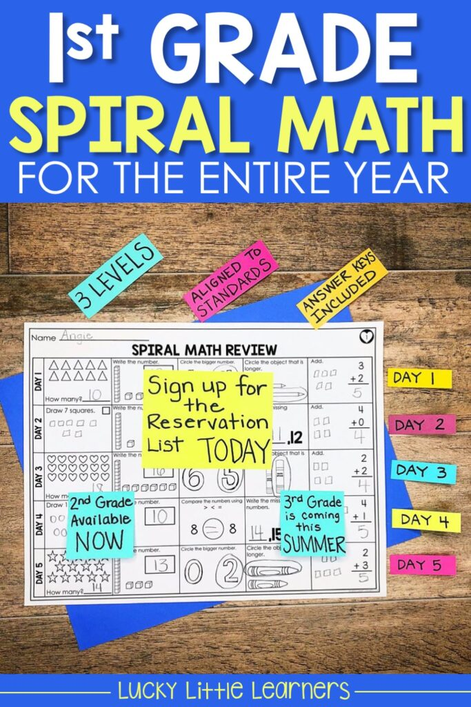 1st grade spiral math review is perfect for morning work, math homework, and daily math warm ups.  All the common core standards were covered in this resource!