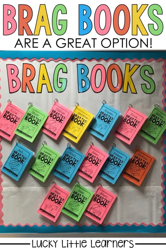 Your students will simply glue their earned brag tags into their brag tag book. They will also have the option to journal about how they earned the brag tag. Your students will be excited to show their parents their achievements during open house and conferences! They will get to take their book home at the end of the year as a keepsake.