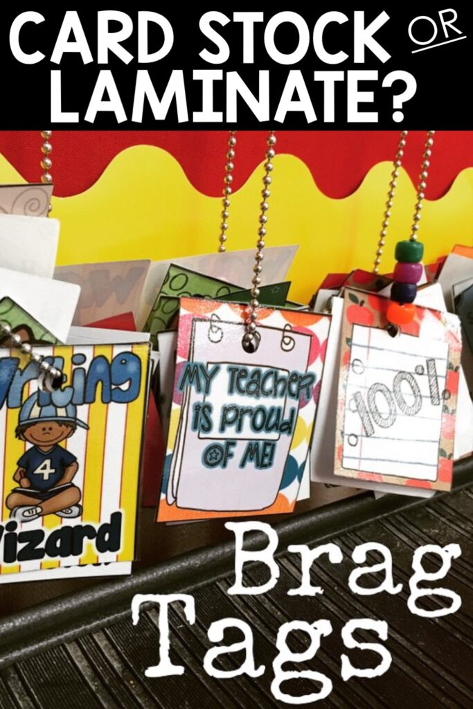 Should you laminate your paper brag tags or print them on card stock? How many brag tags should you print? When should you pass them out? All these questions and more found in this post!