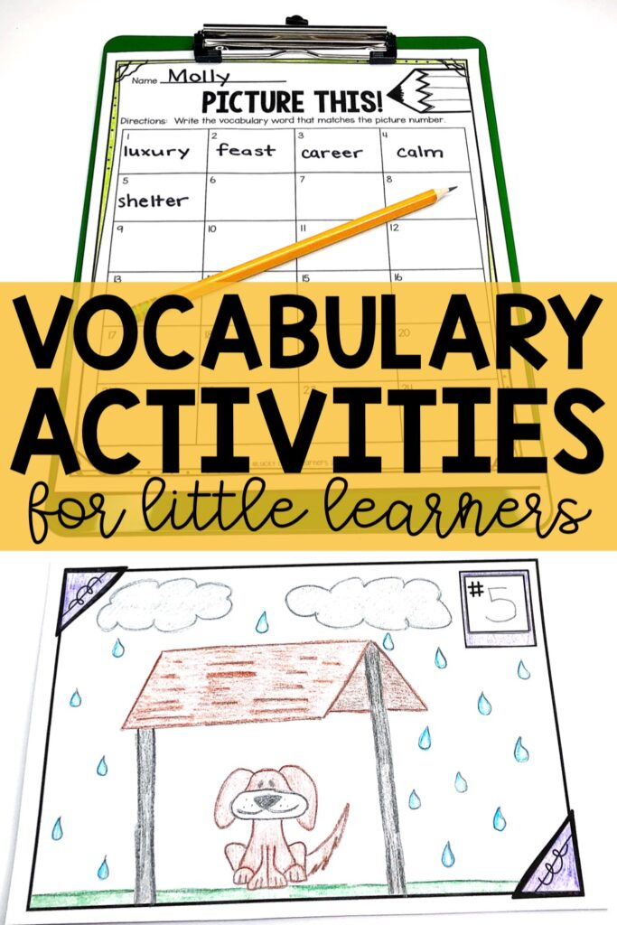 Give each student a vocabulary card with a number. Write the numbers from 1-25 (or however many students you have in your class). Once students get their card, instruct them not to show anyone their card{...} #2ndgrade #3rdgrade #daily5 #wordwork #vocabulary