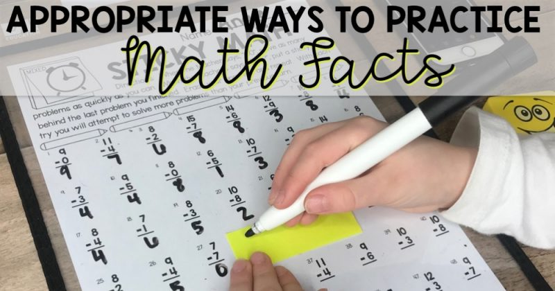 Math Facts Practice for 1st and 2nd Grade