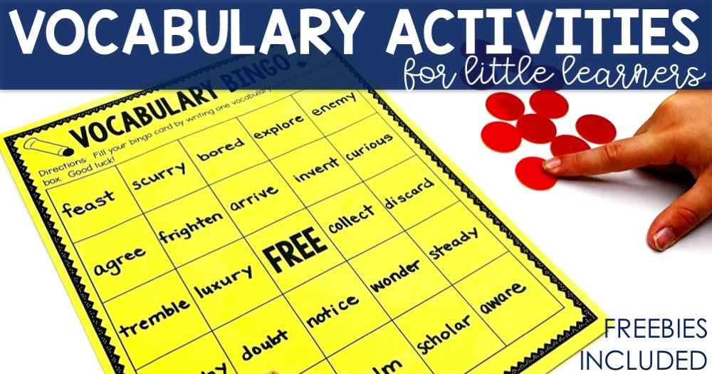 Vocabulary Activities - Lucky Little Learners