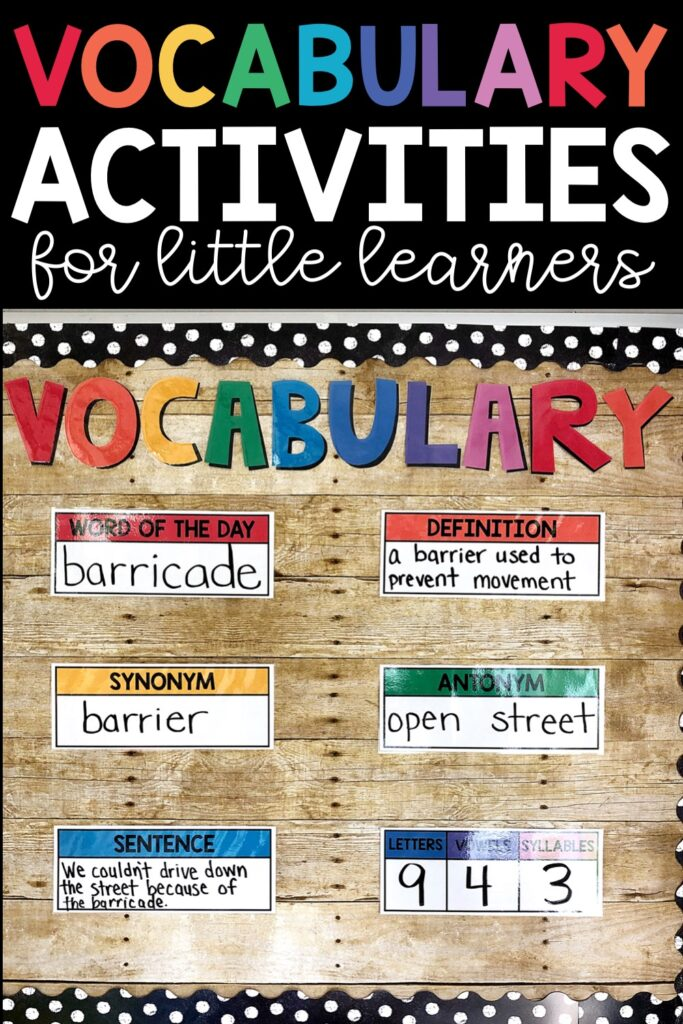 Vocabulary Activities For Little Learners Lucky Little Learners