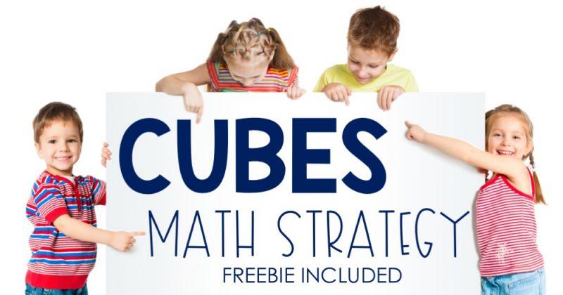 CUBES Math Strategy