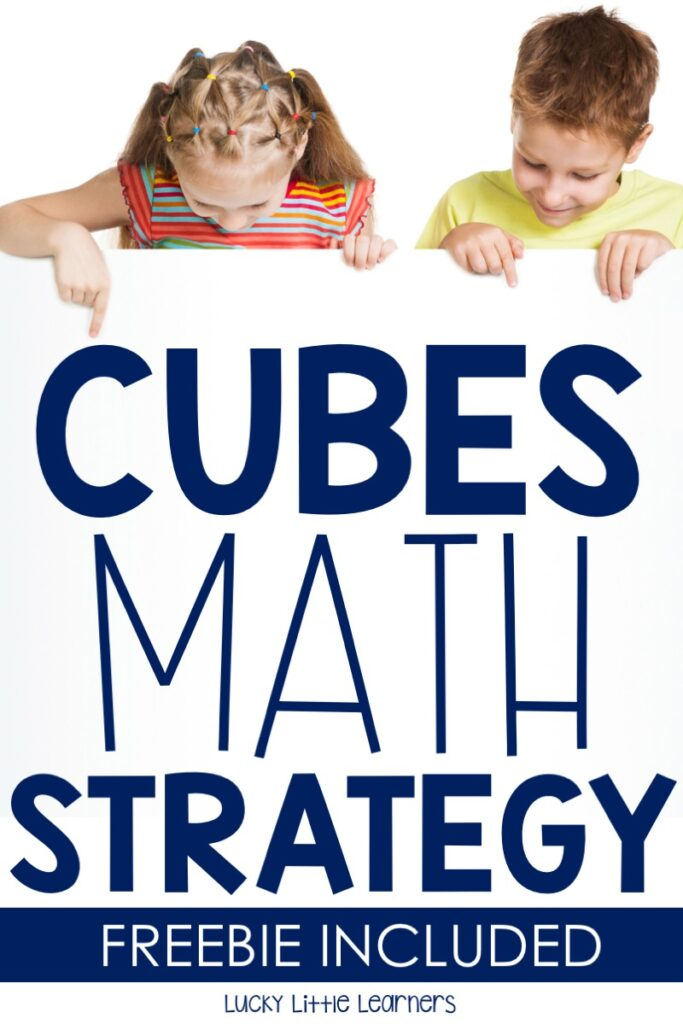photo about Cubes Math Strategy Printable titled CUBES Math System - Fortuitous Very little Students