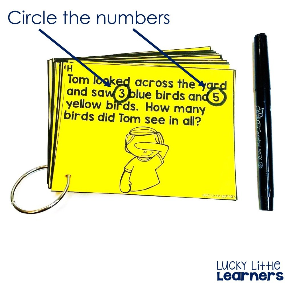 C is for circle the numbers. The CUBES math strategy is so helpful to help students to solve story problems.
