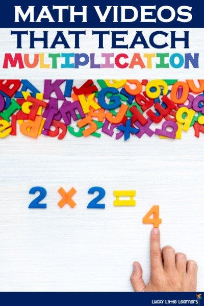Introducing multiplication to students needs to interesting and capture their attention.  Math videos that teach multiplication are a great option!  Students can be introduced to multiplication facts, the multiplication chart, and more through these engaging videos.