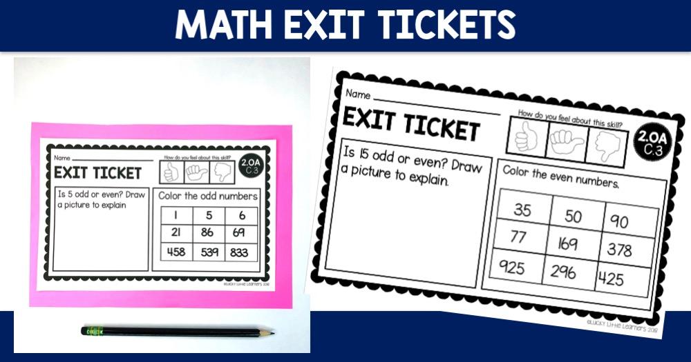 Math Exit Tickets