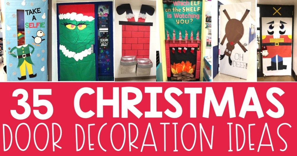 ... door decoration planning easy peasy this holiday season. Below you will find plenty of inspiration from Elf Selfies to Gingerbread Houses to Grinch Acts ...