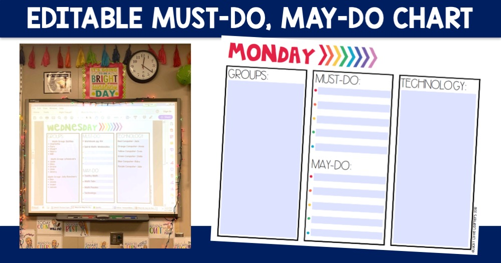 Editable Must-Do, May-Do Chart