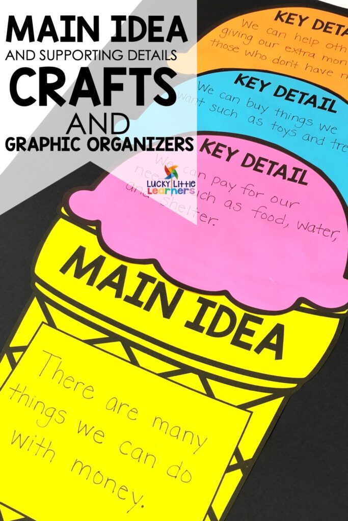 Here are some main idea and details activities that will help your students learn this important skill.  #mainidea #2ndgrade #1stgrade