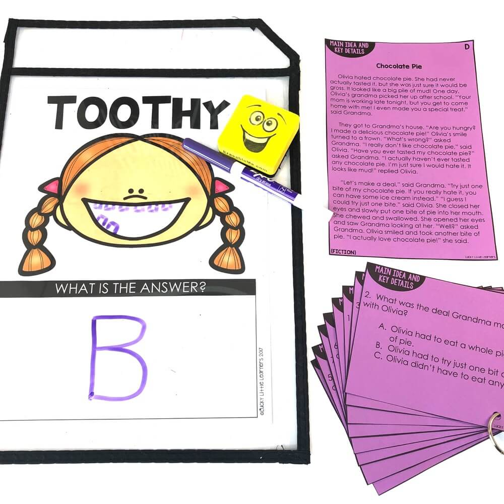 Your students will receive all the practice they need to reinforce the skill of main idea and key details with this pack! There are 12 fiction and nonfiction short stories included. Each short story features a clear main idea with key details. There are a total of 84 text-dependent questions (7 questions for each story). Students will need to use information within the text to determine the answers to the questions. #2ndgrade