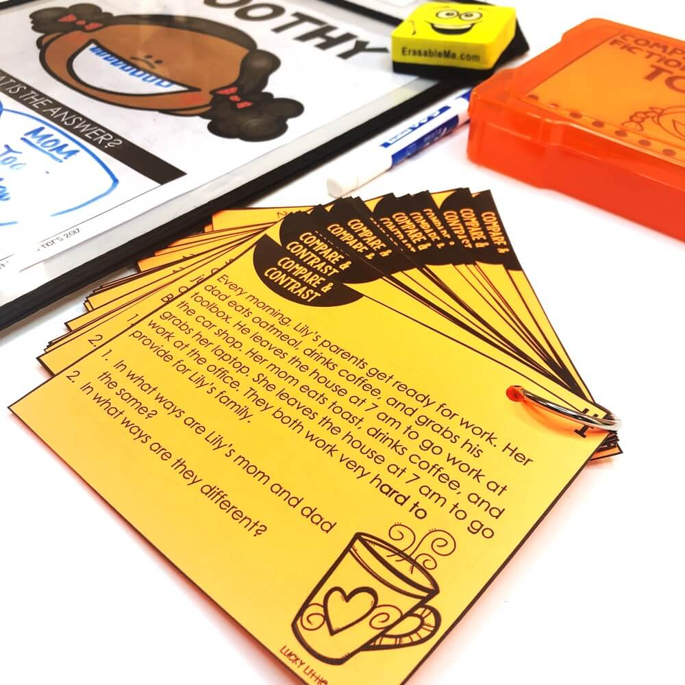 Your students will receive all the practice they need to reinforce the skill of compare and contrast with this pack! There are 24 task cards included. Each card features a short passage. There are 12 fiction passages and 12 nonfiction passages. #2ndgrade