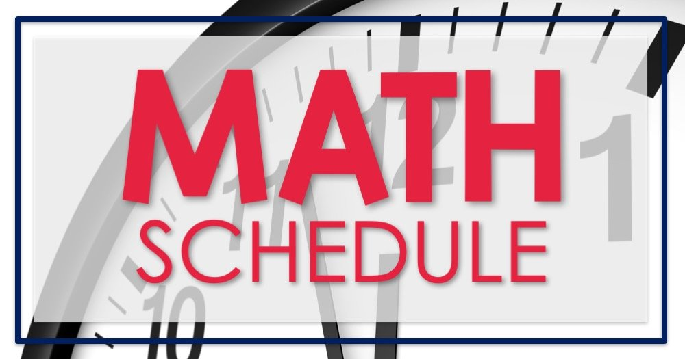 Math Schedule