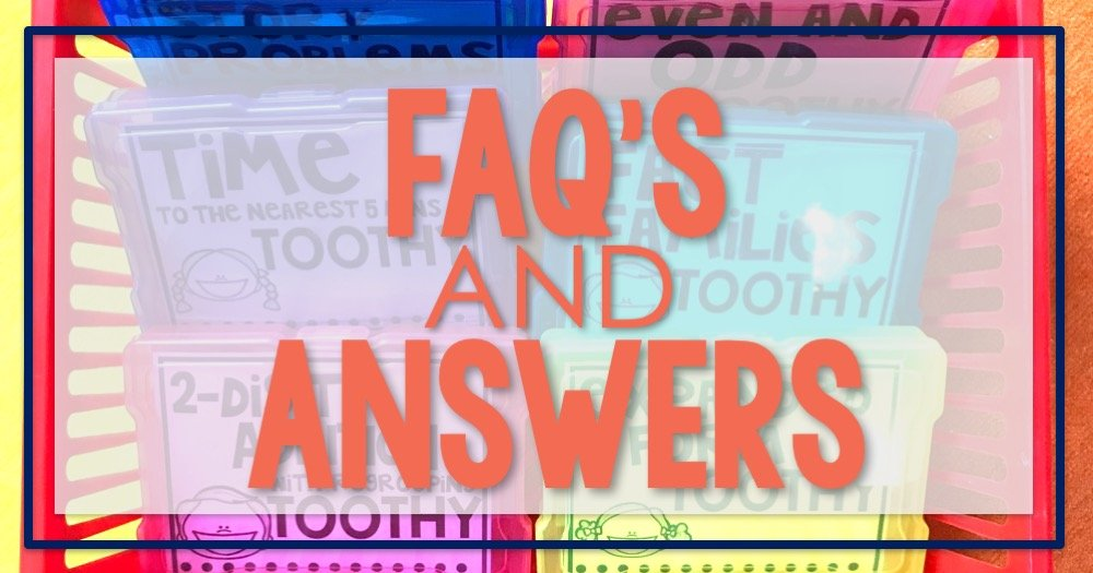 Math Centers FAQ's & Answers