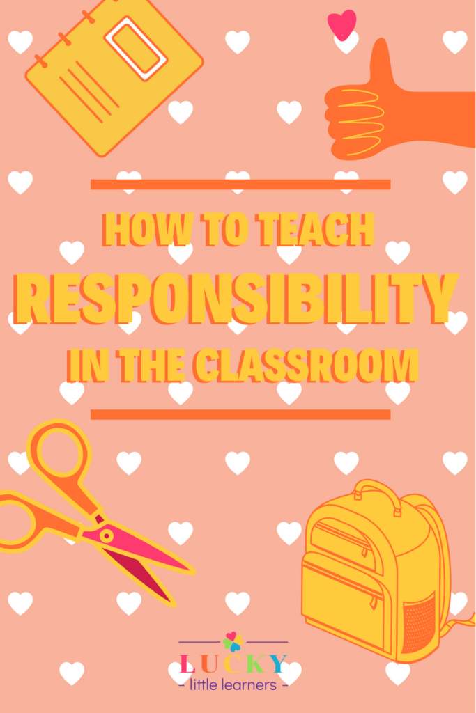 """Be responsible"" is a phrase that teachers often tell their students. How do you teach them the skills necessary to show their own responsibility? From staying on task, being organized, and doing their job of being a student well, it's so important that teachers focus on how to teach responsibility in the classroom.  #SEL #charactereducation"