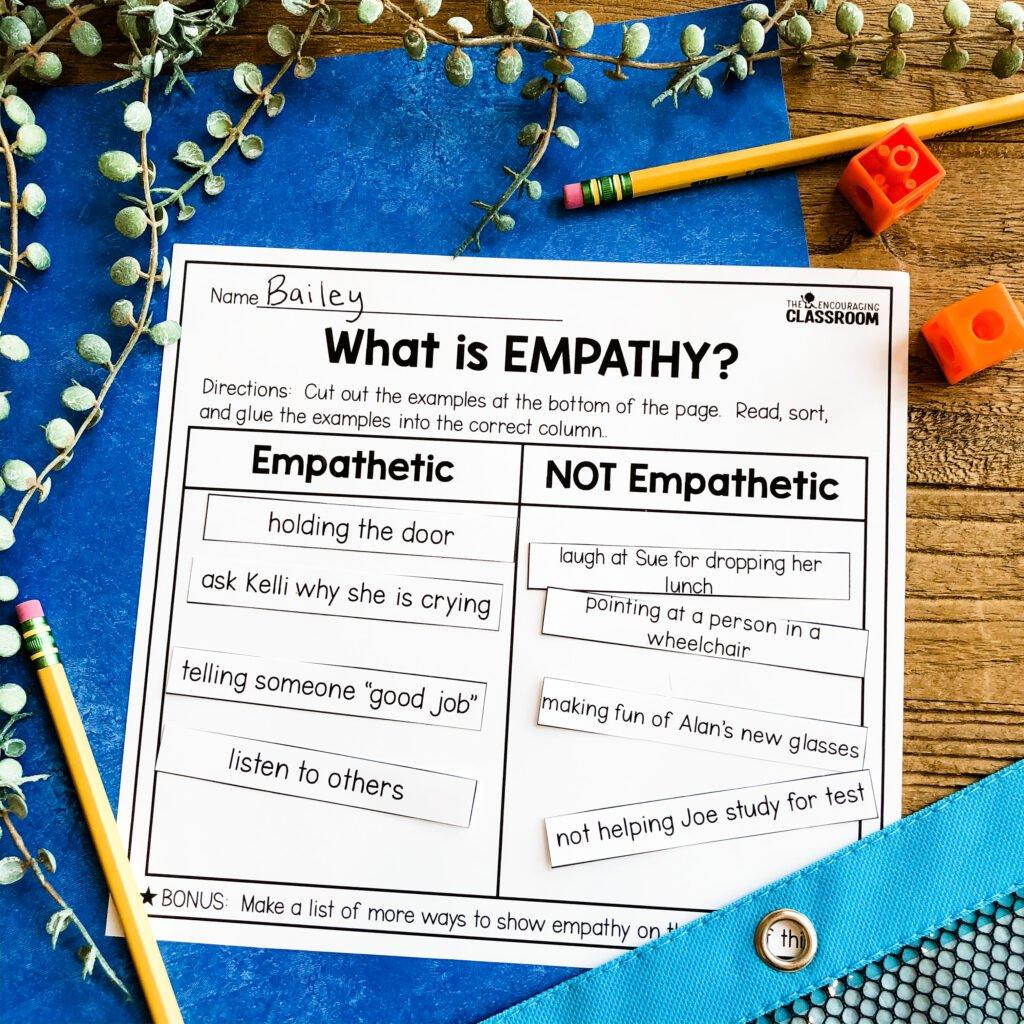 empathy sorting template