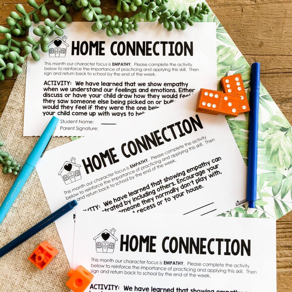 teaching empathy parent letters