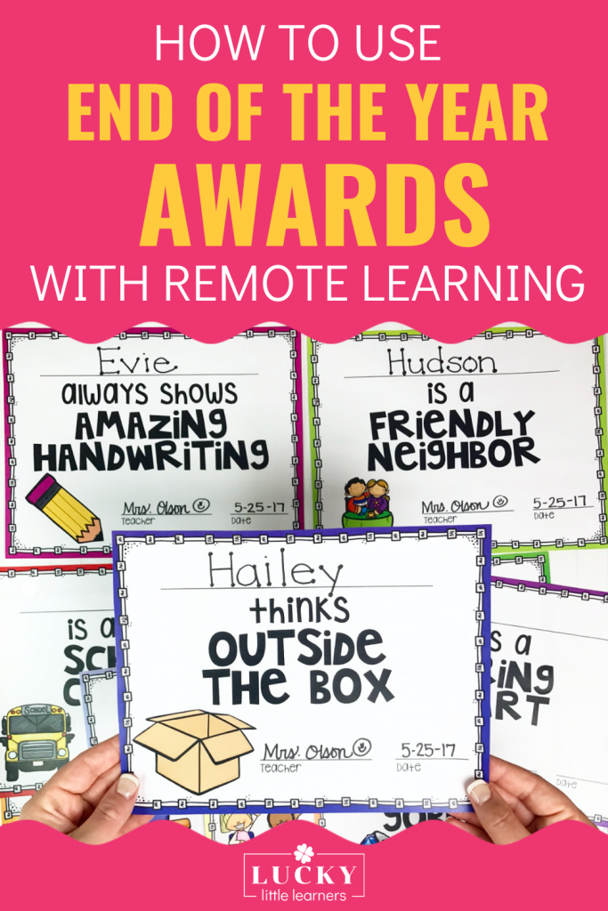 Celebrate your students with these digital end of the year awards! They can be assigned right inside of Google Classroom. We provide you with many ideas on exactly how to do this!