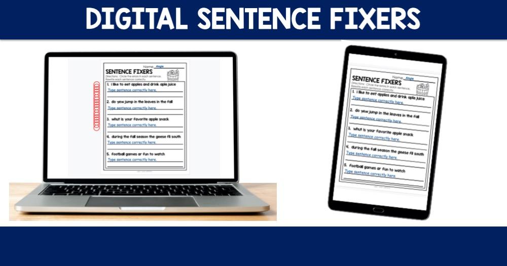 Digital Sentence Fixers