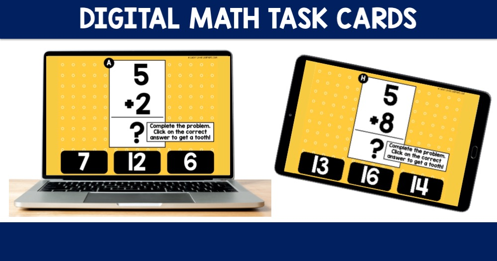 Digital Math Task Cards