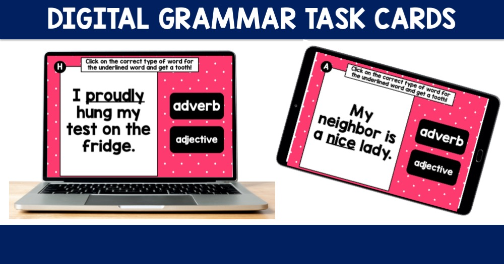 Digital Grammar Task Cards