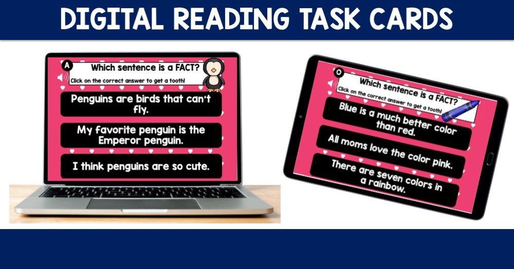 Digital Reading Task Cards