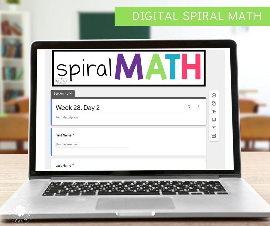 This 2nd grade distance learning resource is great because it includes 3 levels of differentiation and it corrects their problems for you!  This is a great daily math activity for remote learning!