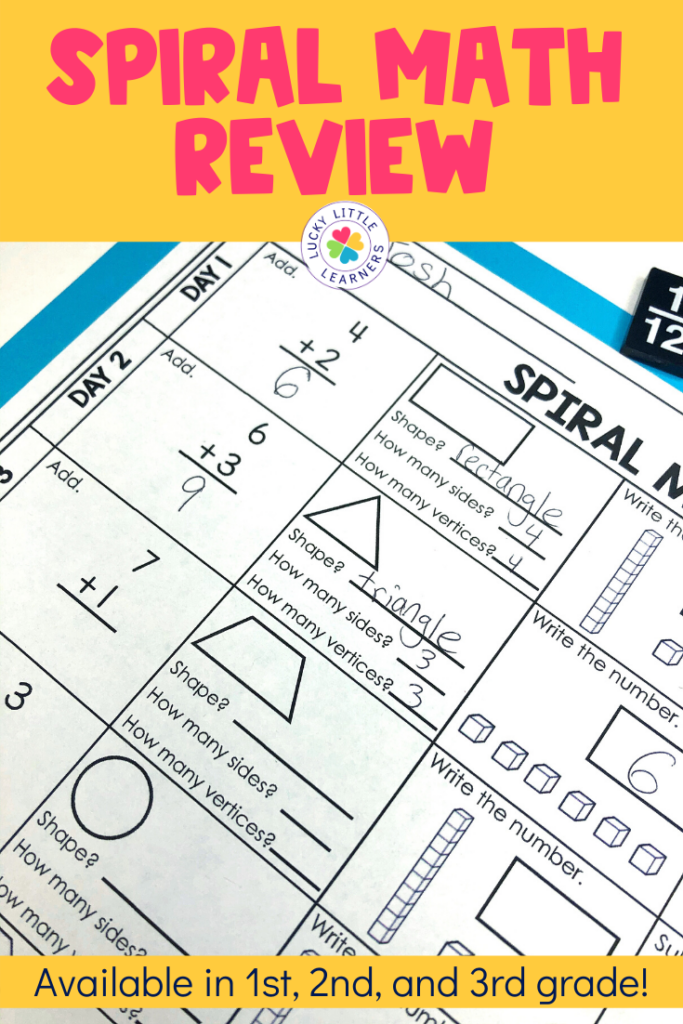Spiral math review can be printed and put into take home packets or assigned digitally on Google Classroom.  These math sheets are a great way for your students to review their math skills all year long.
